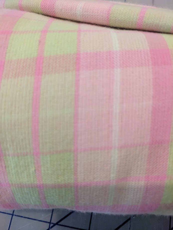 Pink & Green Plaid 3 yard bundle