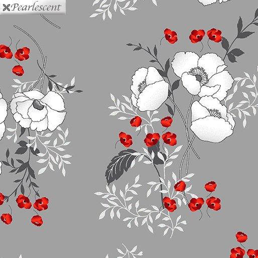 Poppy Bouquets Gray (Poppy Promenade)