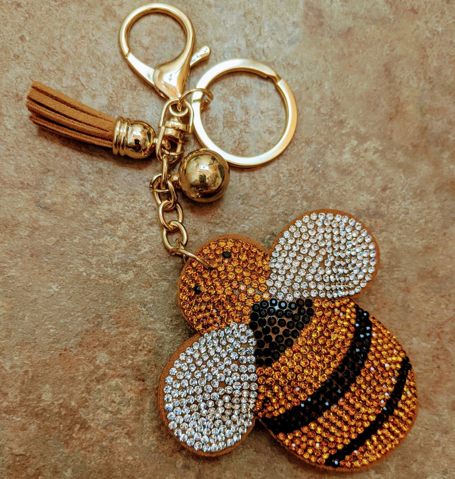 Rhinestone Bee Key Chain