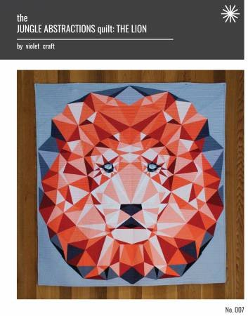 The Jungle Abstraction: The Lion Quilt Fabric Kit