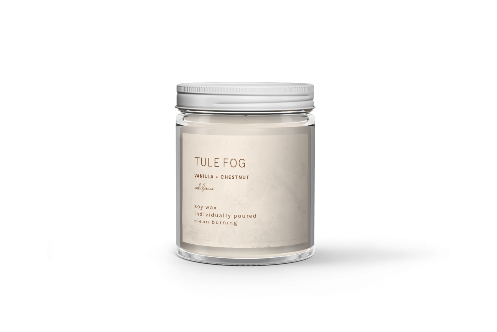 Tule Fog Vanilla + Chestnut Candle 7oz