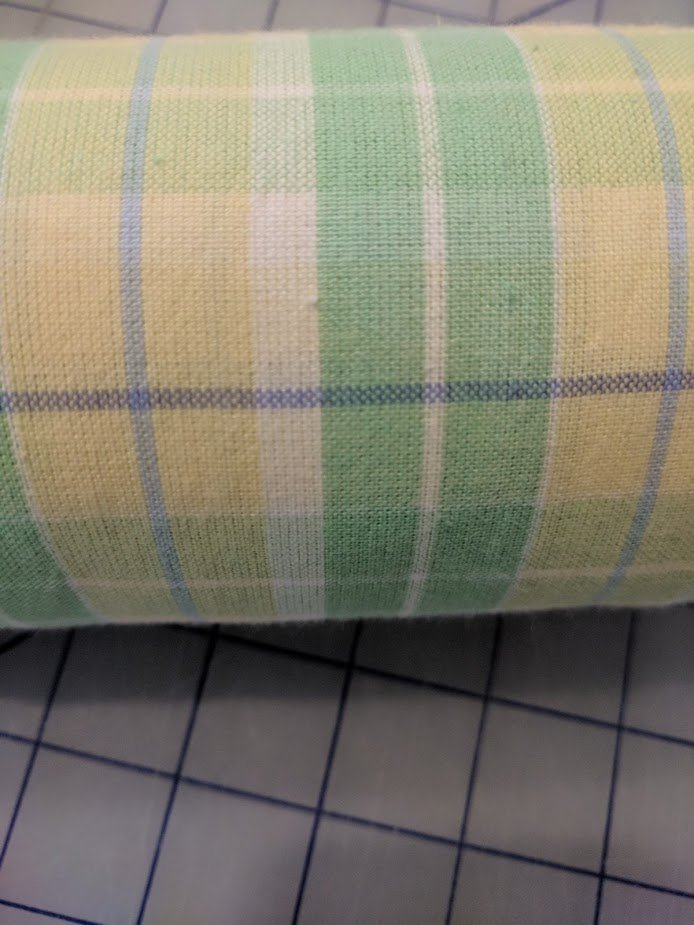Yellow & Green Plaid 3 yard bundle