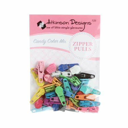 Zipper Pulls Candy Clr Mix 30ct