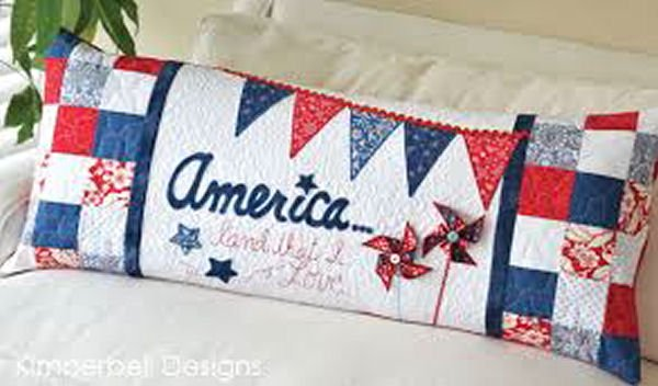Kimberbell America, Land That I Love! Bench Pillow Embroidery CD
