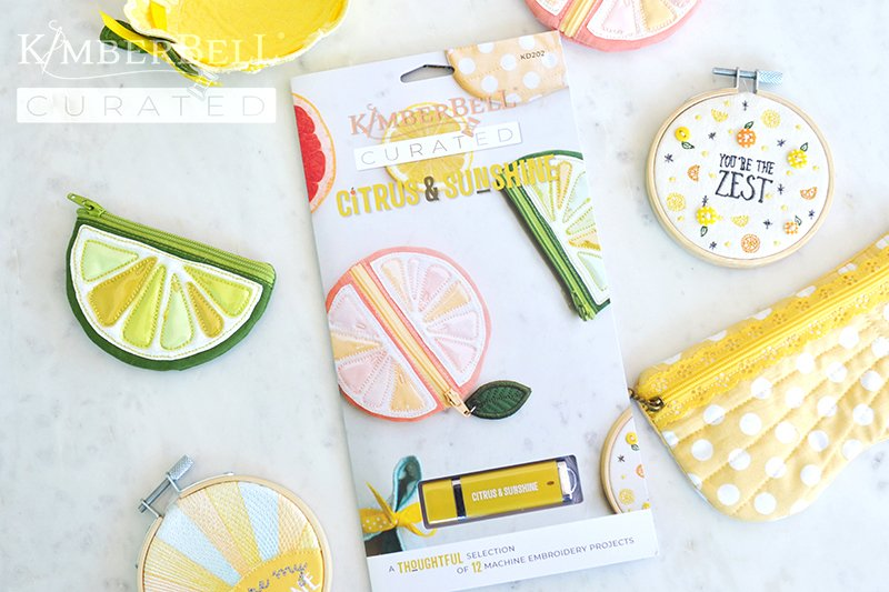 Kimberbell Curated - Citrus & Sunshine Embroidery CD