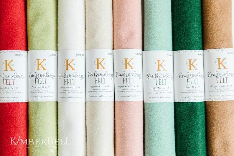 Kimberbell Embroidery Felt - Fresh Mint