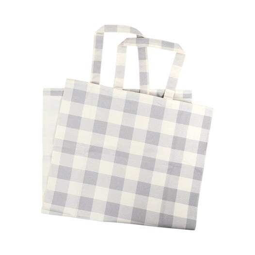 Kimberbell Blanks - Buffalo Check Tote, Grey & Cream
