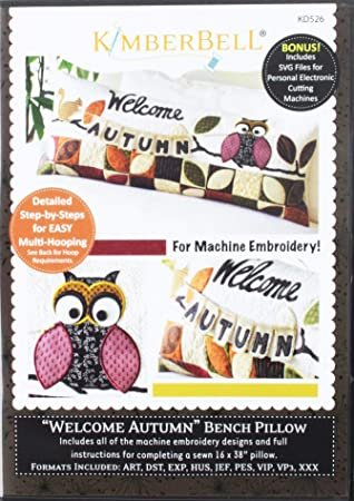 Kimberbell Welcome Autumn Bench Pillow