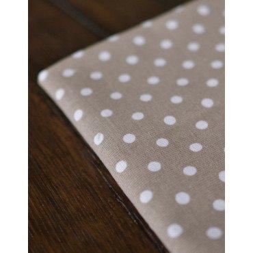 Kimberbell Blanks - Tea Towels, Grey Polka Dot