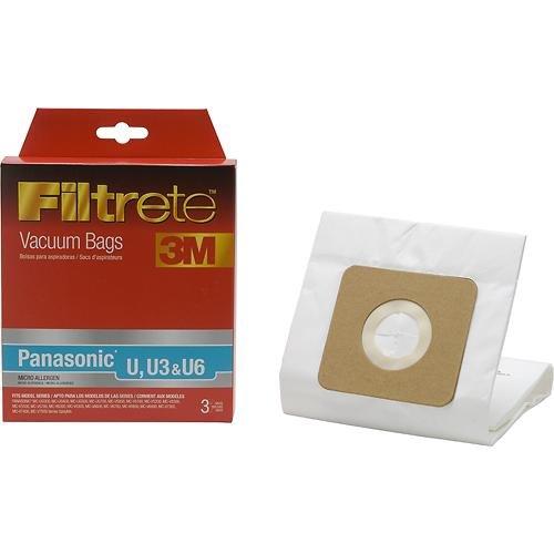Filtrete 3M Designed to fit Panasonic Type U U3 & U6 Micro Allergen