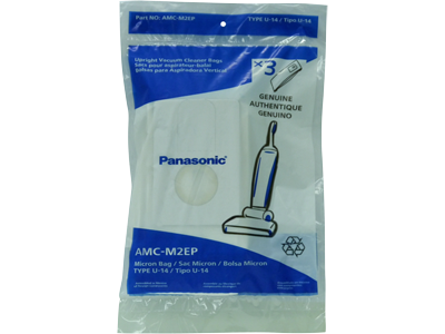 Panasonic AMC-M2EP U-14  U14 Upright vacuum bags – Genuine – 3 in a pack