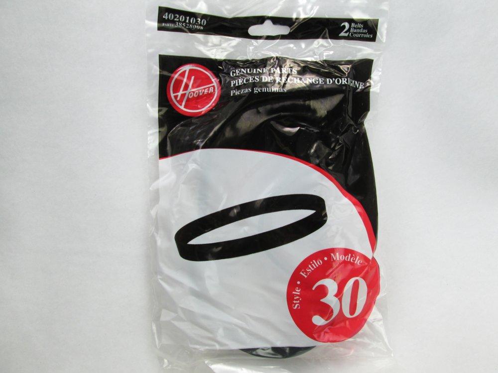 Hoover Vacuum Belt 40201030 Style 30 part # 38528008 2 pack