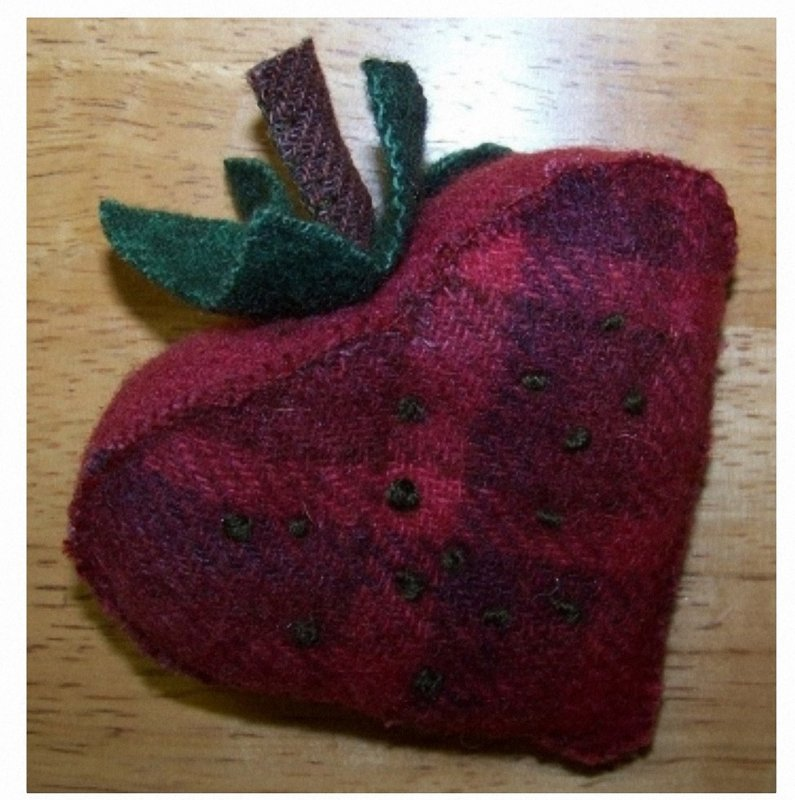 Pincushion -- Strawberry Numm Pattern