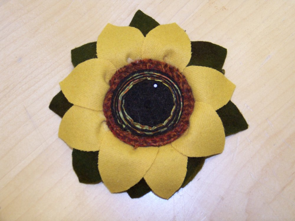Pincushion -- Sunflower Delight Pattern