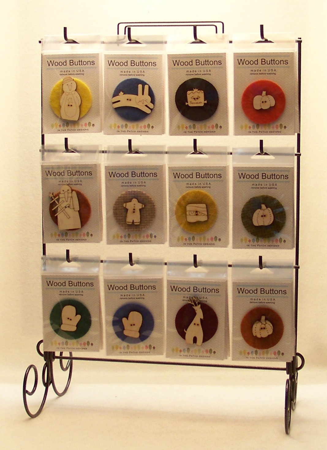 Laser Cut Wooden Button Display-Holiday and Seasonal