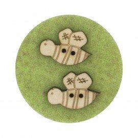 Laser Cut Wooden Buttons-Bee's