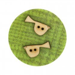 Laser Cut Wooden Buttons-Birds left and right