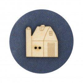 Laser Cut Wooden Buttons-Barn