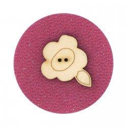 Laser Cut Wooden Buttons-Blossom