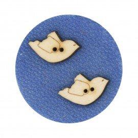 Laser Cut Wooden Buttons-Blackbirds