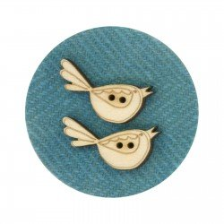 Laser Cut Wooden Buttons-Bluebirds