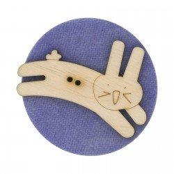 Laser Cut Wooden Buttons-Bunny Hop