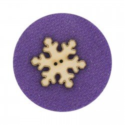Laser Cut Wooden Buttons-Snowflake