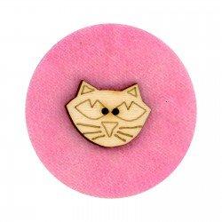 Laser Cut Wooden Buttons-Halloween Cat