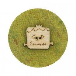Laser Cut Wooden Buttons-Halloween Frank