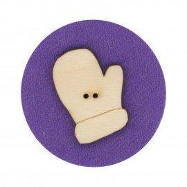 Laser Cut Wooden Buttons-Mitten Left