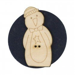 Laser Cut Wooden Buttons-Lil Pengy