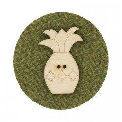 Laser Cut Wooden Buttons-Pineapple