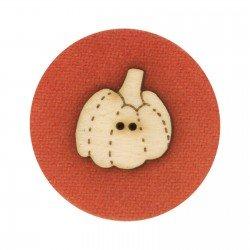 Laser Cut Wooden Buttons-Pumpkin 1