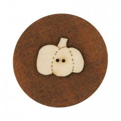 Laser Cut Wooden Buttons-Pumpkin 2