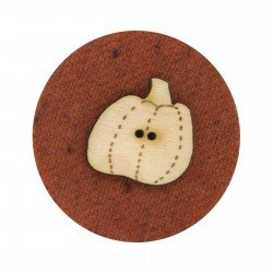 Laser Cut Wooden Buttons-Pumpkin 3