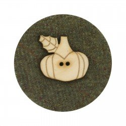 Laser Cut Wooden Buttons-Pumpkin 4