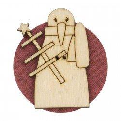 Laser Cut Wooden Buttons-Snow 6