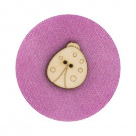 Laser Cut Wooden Buttons-Ladybug (small)