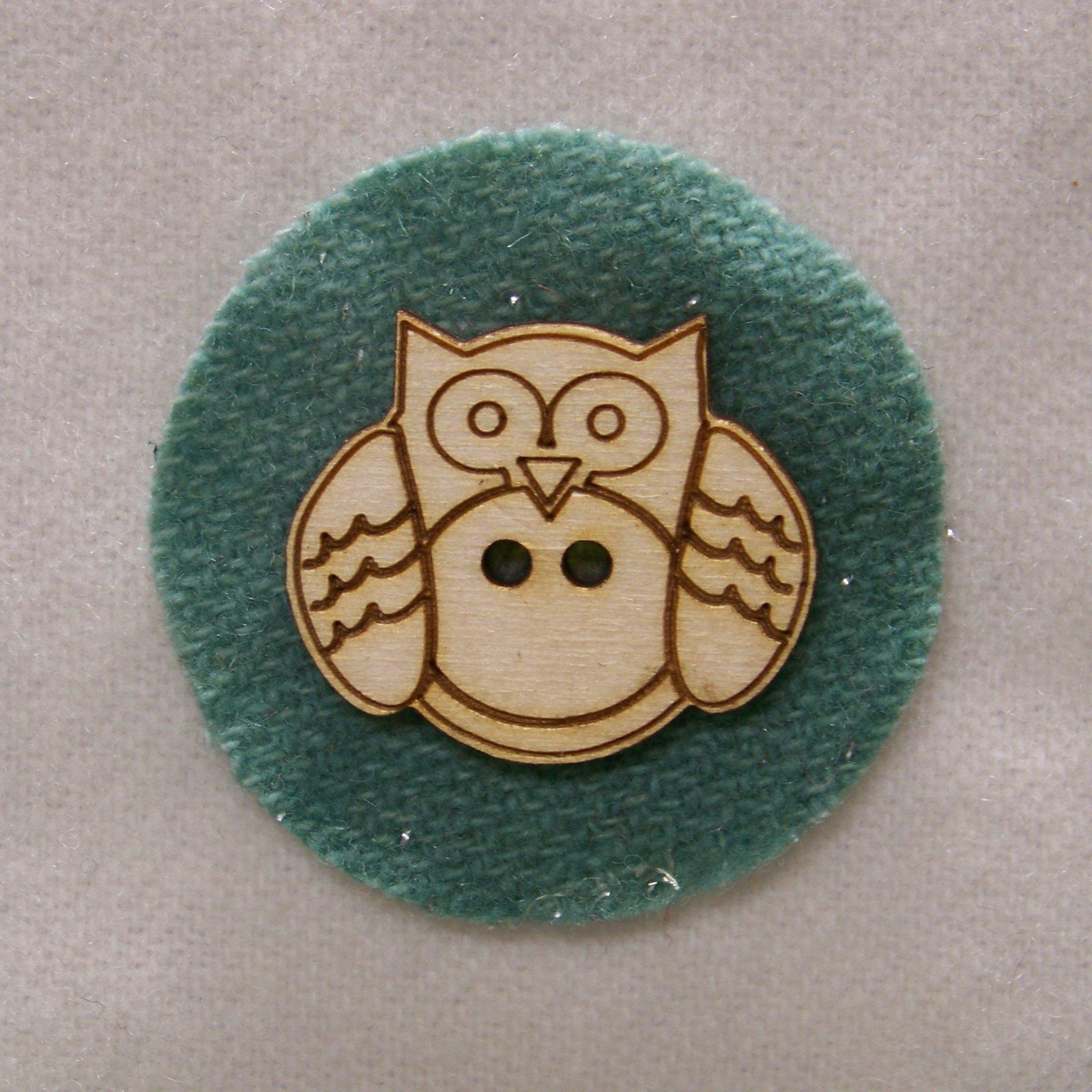 Laser Cut Wooden Buttons-Large Smidgen Owl