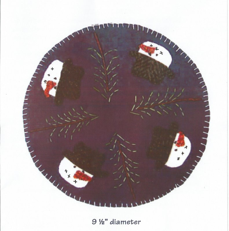 Snowy Pines Candle Mat Kit