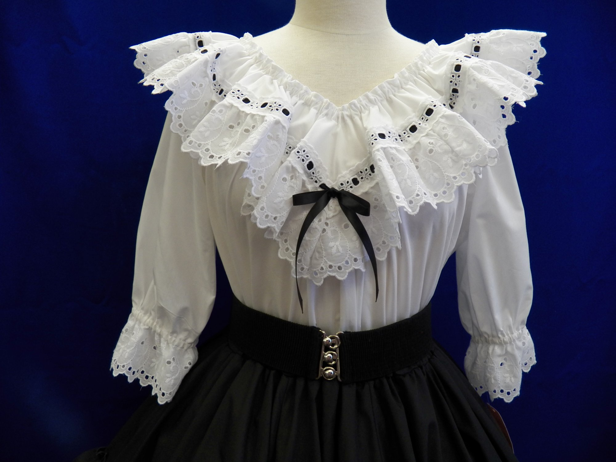 White Eyelet with Ribbon
