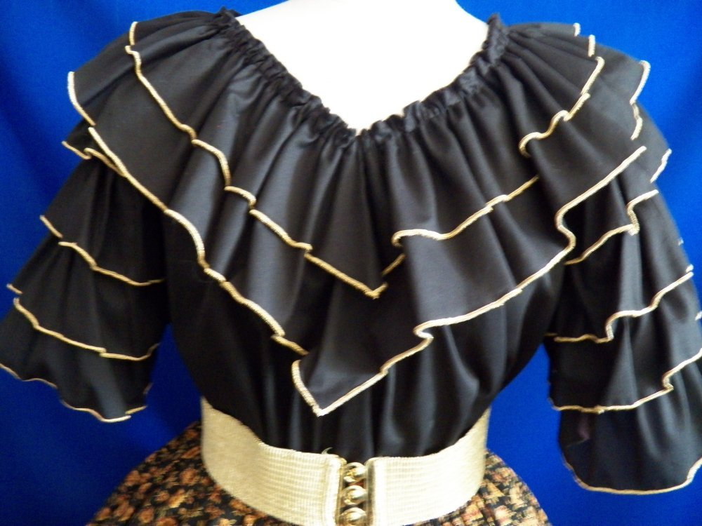 Rumba Blouse w/ Metallic Edging