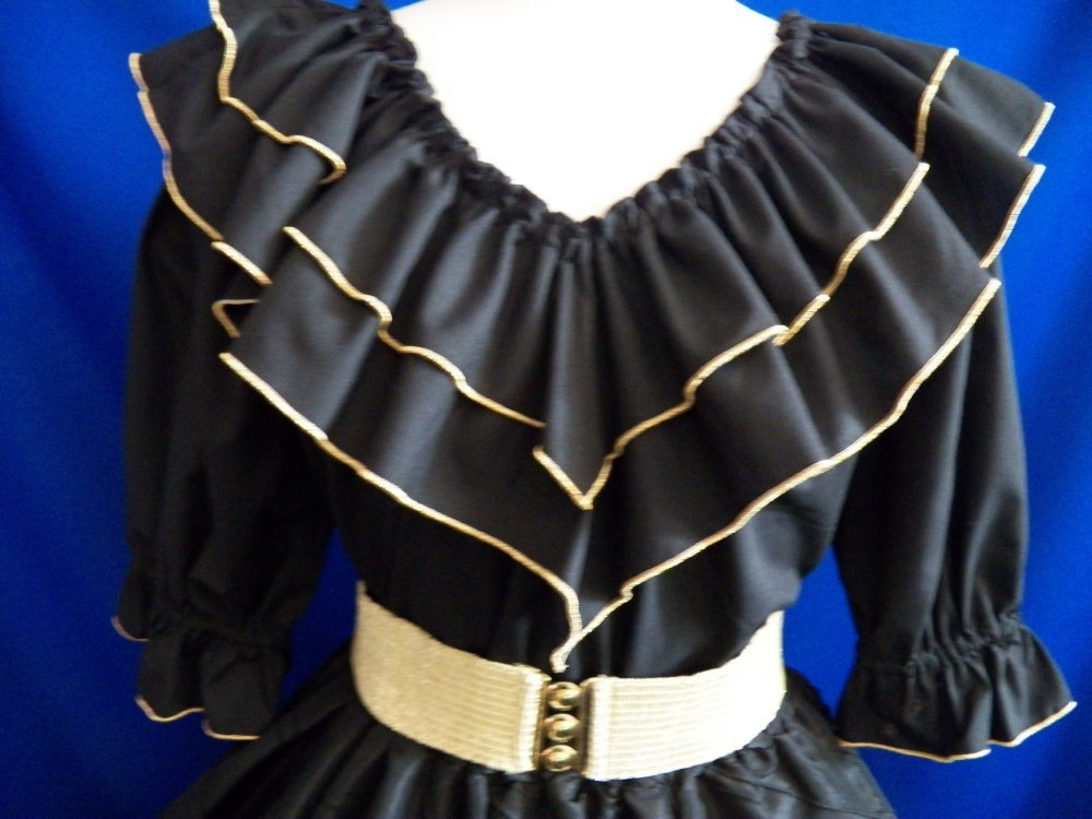 Peasant Blouse w/ Metallic Edging