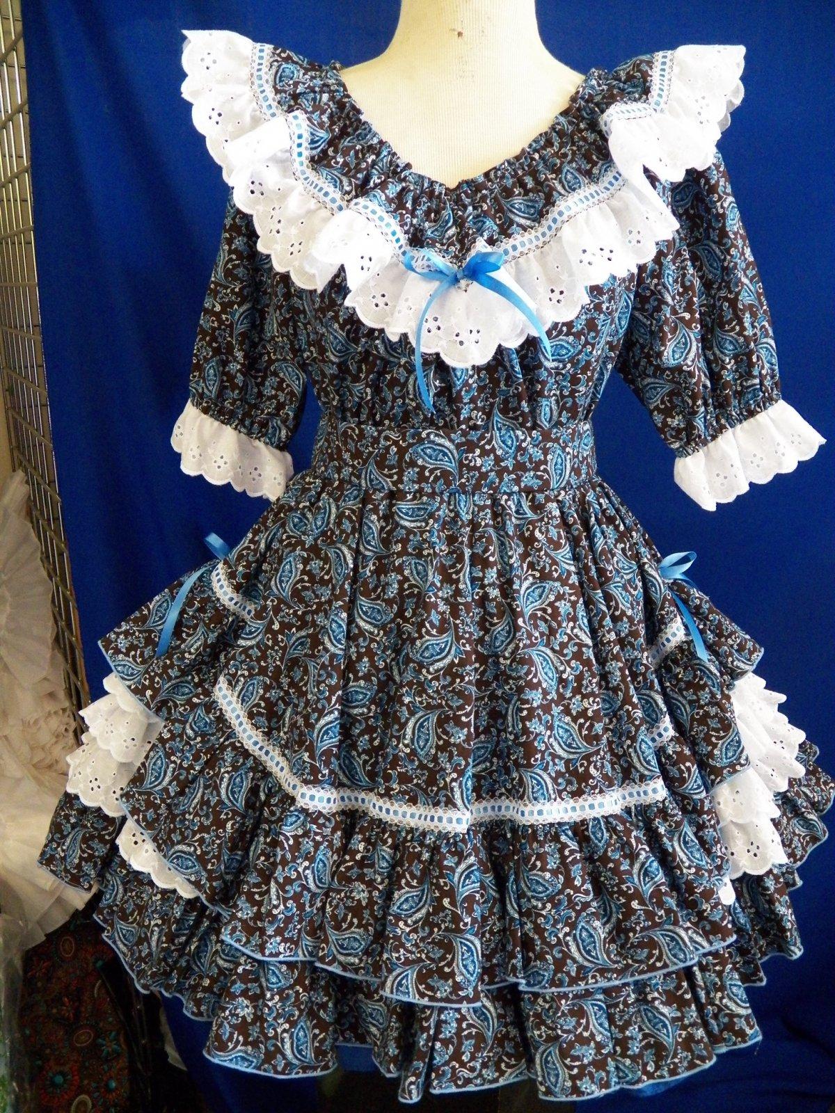 Blue/Brown Paisley  (M19)