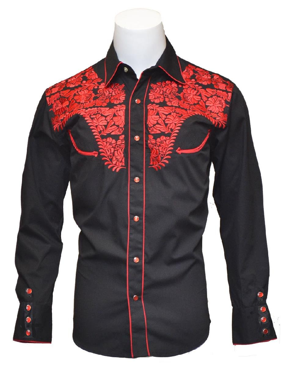 Men's Tooled Retro Shirt w/ Embroidery