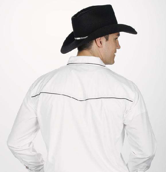 Men's Retro Shirt w/Leaf Embroidery