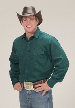 Men's Solid Shirt - Hunter Green