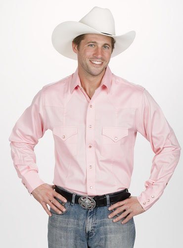 Men's Solid Shirt - Pink