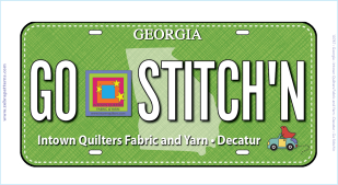 GO STITCH'N 2017 RxR License Plate