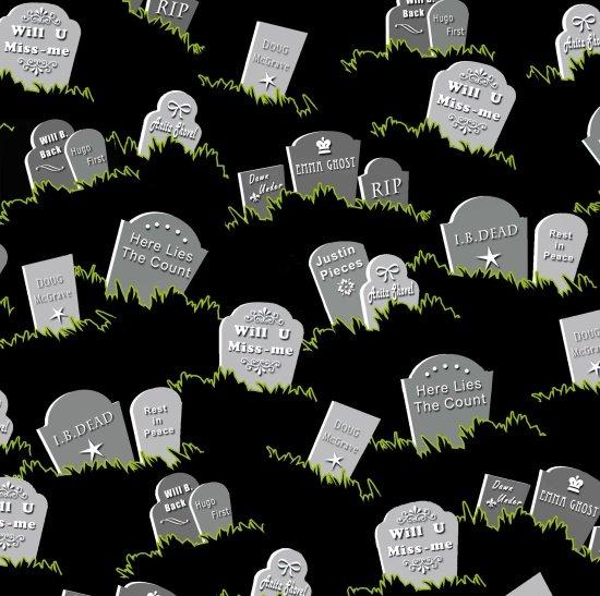 Grave Stones Black Fangtastic 1099G-99